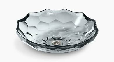 Kohler Briolette™ vessel faceted glass sink  K-2373-B11