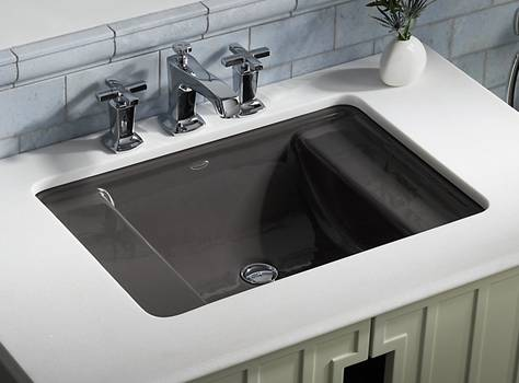 Kohler Ledges® Cast Iron under-mount sink K-2838-FT
