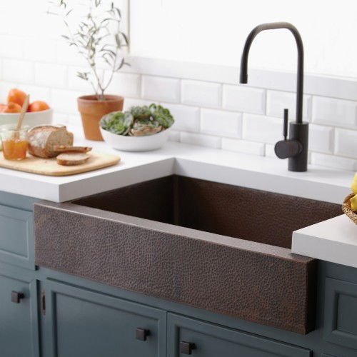 "Native Trails Paragon 33"" Copper Farmhouse Sink CPK291"