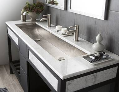 """Native Trails Trough 48"""" Sink Hammered Brushed Nickel CPS508"""